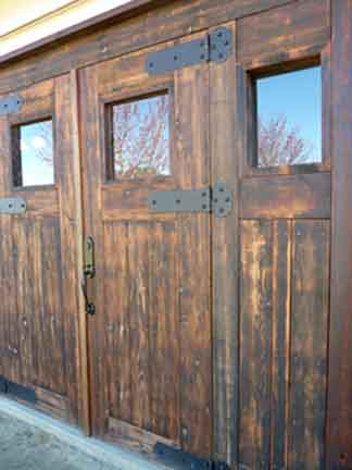 At the winery massive doors were repurposed from a heavy pergola that once shaded our homeu0027s patio. Doors by Vision Cabinets. & Crow and Bear Winery/Tasting Room pezcame.com
